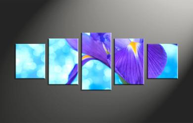 home decor, 5 piece canvas art prints, floral artwork, flower large canvas, lily wall decor