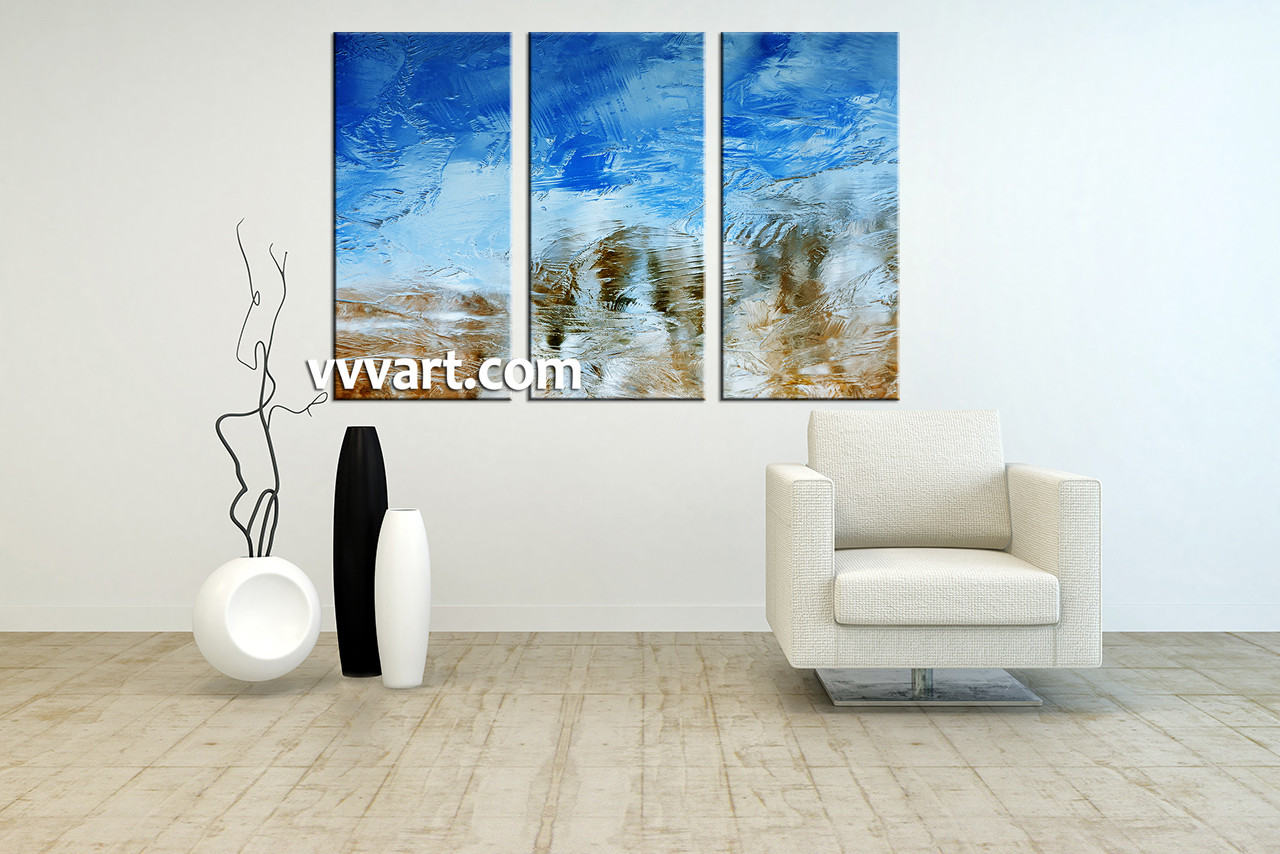Living Room Art, 3 Piece Canvas Wall Art, Abstract Artwork, Abstract Huge  Pictures