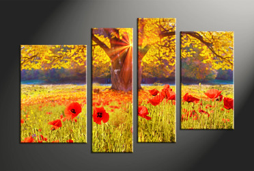 Home Decor, 4 piece canvas art prints, scenery canvas photography, scenery multi panel canvas, floral art