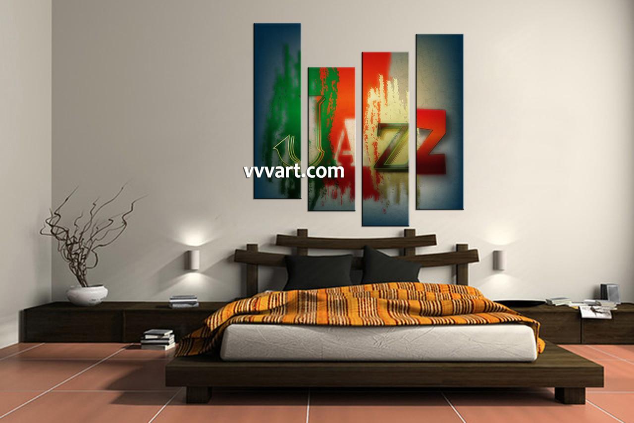 bedroom decor  piece wall art jazz huge pictures modern multi panel art.  piece colorful canvas jazz music artwork
