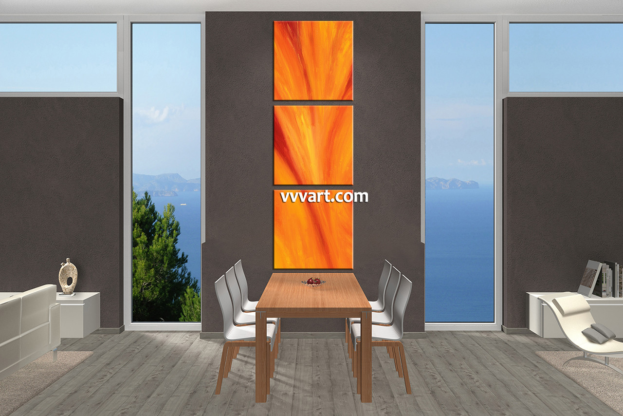Dining Room Wall Art, 3 Piece Canvas Wall Art, Abstract Photo Canvas,  Abstract