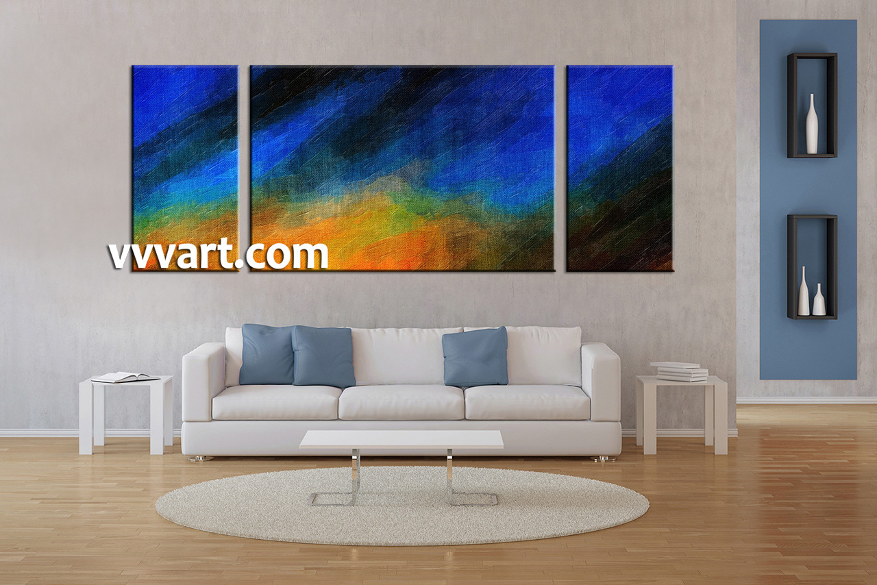 Living Room Artwork 3 Piece Canvas Wall Art Abstract Pictures Large