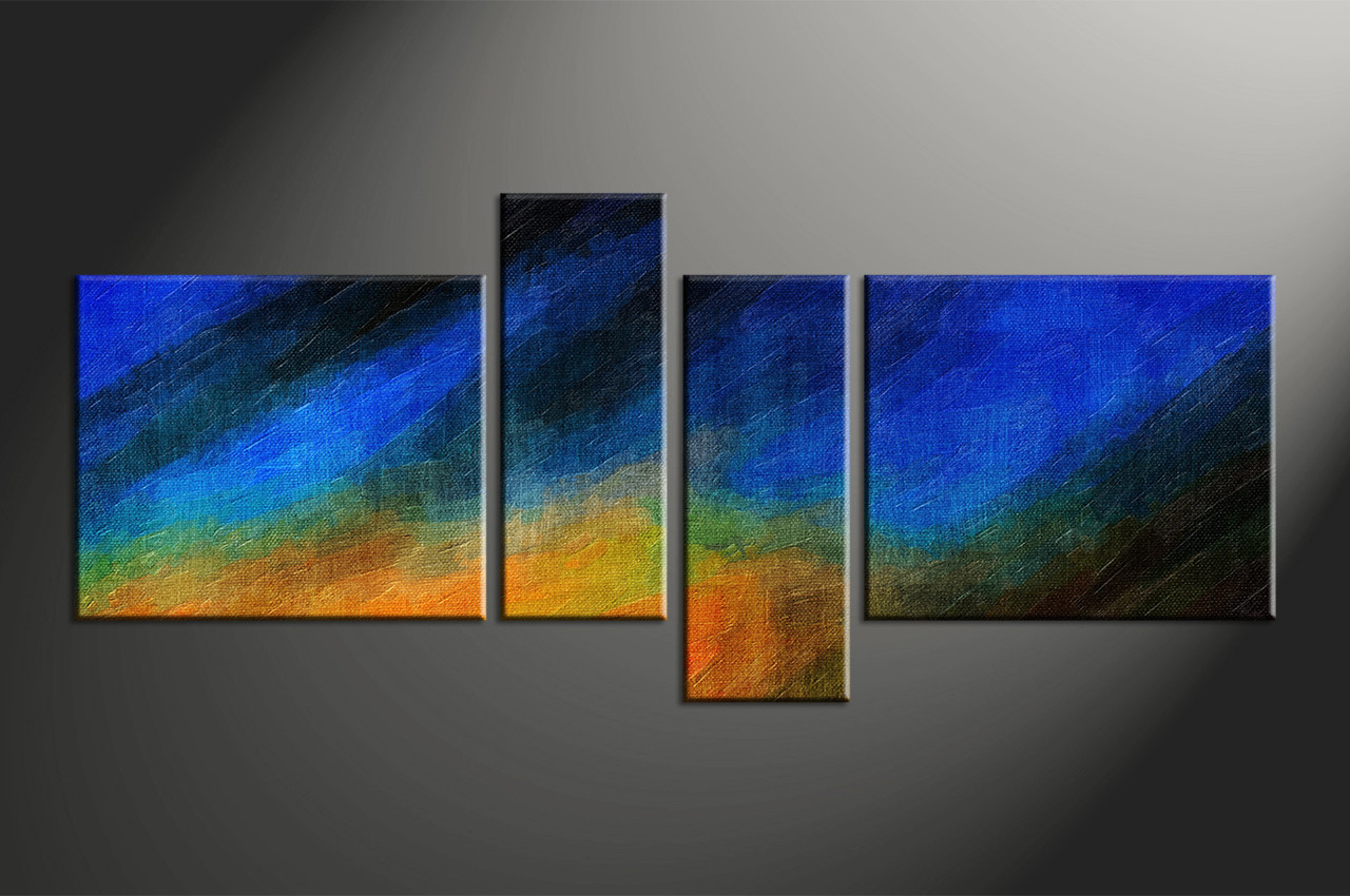 Abstract wall art painting - Home Decor 4 Piece Canvas Wall Art Abstract Group Canvas Abstract Large Pictures