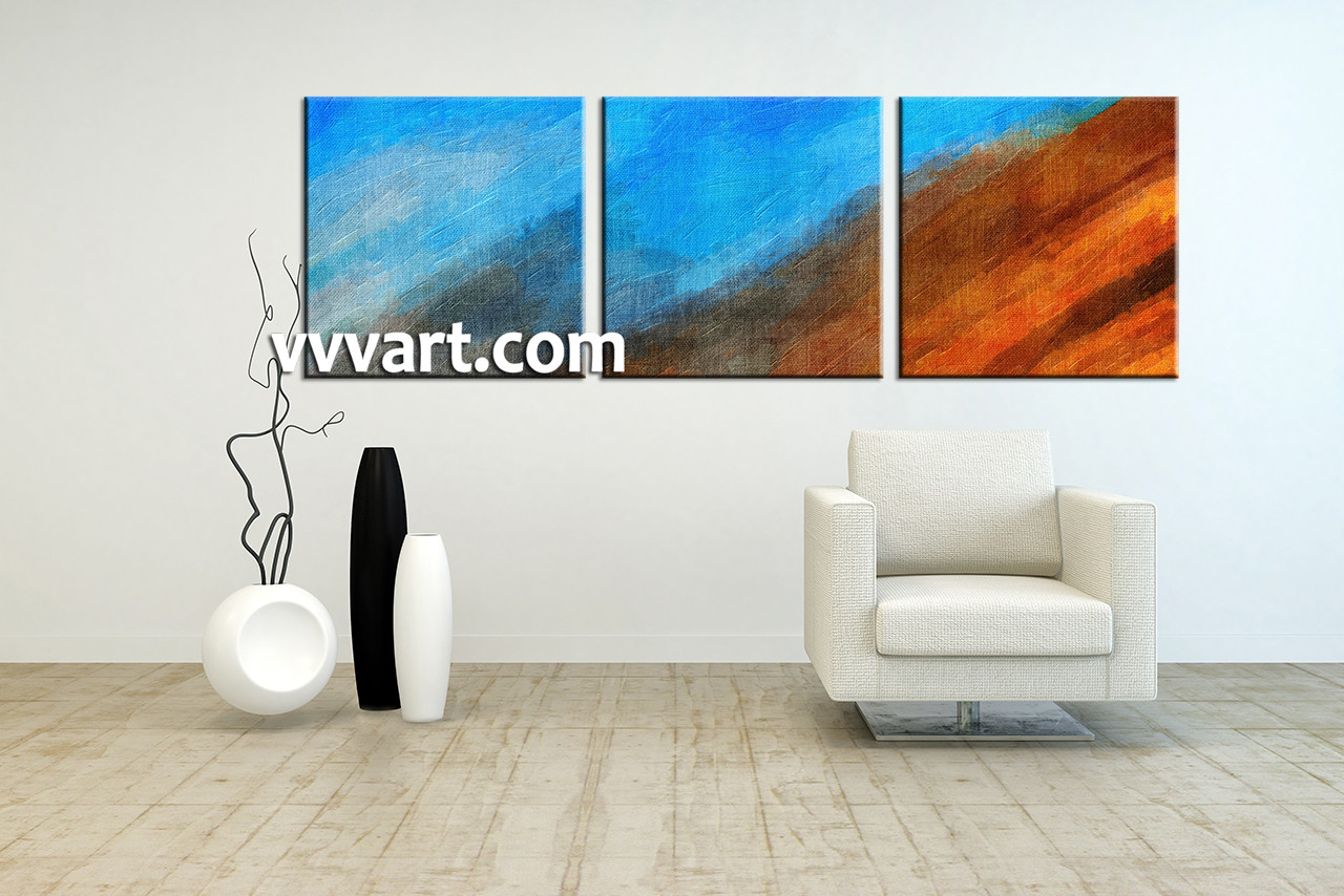 piece abstract blue oil paintings canvas wall art - living room art  piece canvas wall art abstract large canvas abstractgroup