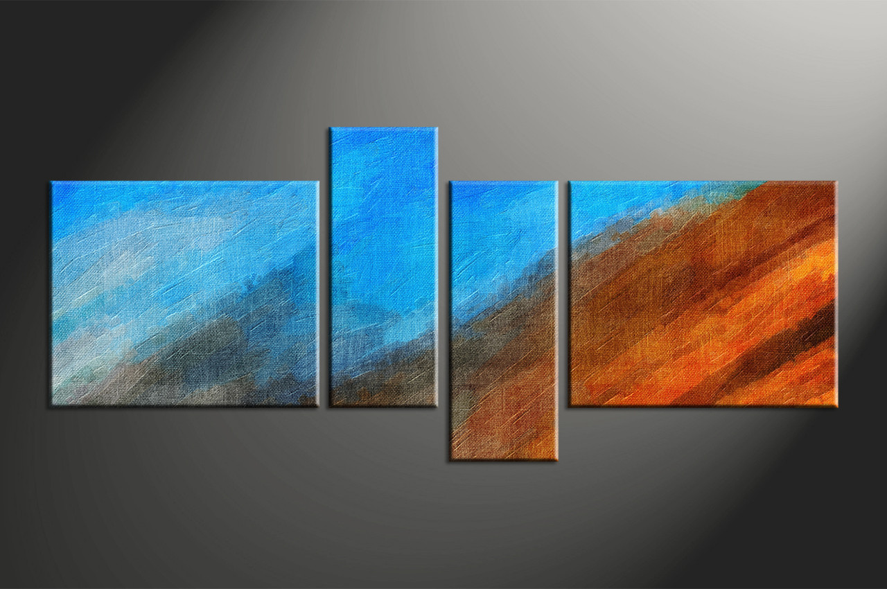 Abstract wall art painting - Home Decor 4 Piece Canvas Wall Art Abstract Multi Panel Art Abstract Large