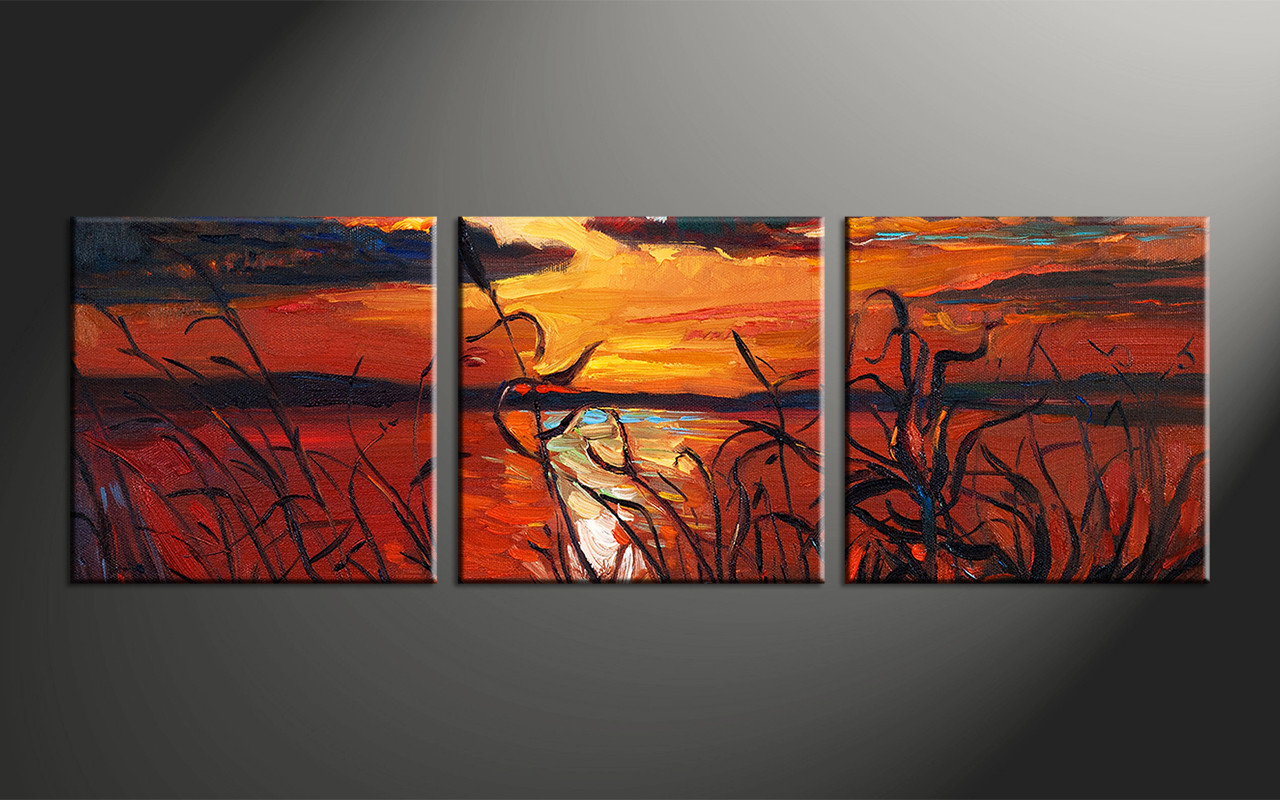 Home Decor, 3 Piece Photo Canvas, Ocean Artwork, Oil Paintings Large Canvas,