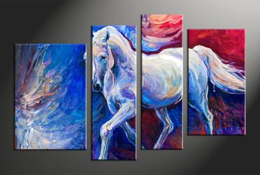 home decor, 4 piece canvas arts, oil canvas arts, wildlife huge canvas art, scenery canvas wall art