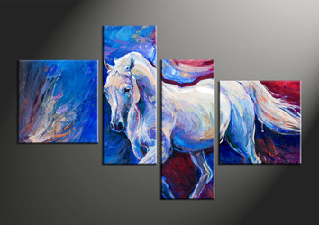 home decor, 4 piece canvas arts, animal canvas arts, wildlife huge canvas art, scenery canvas wall art