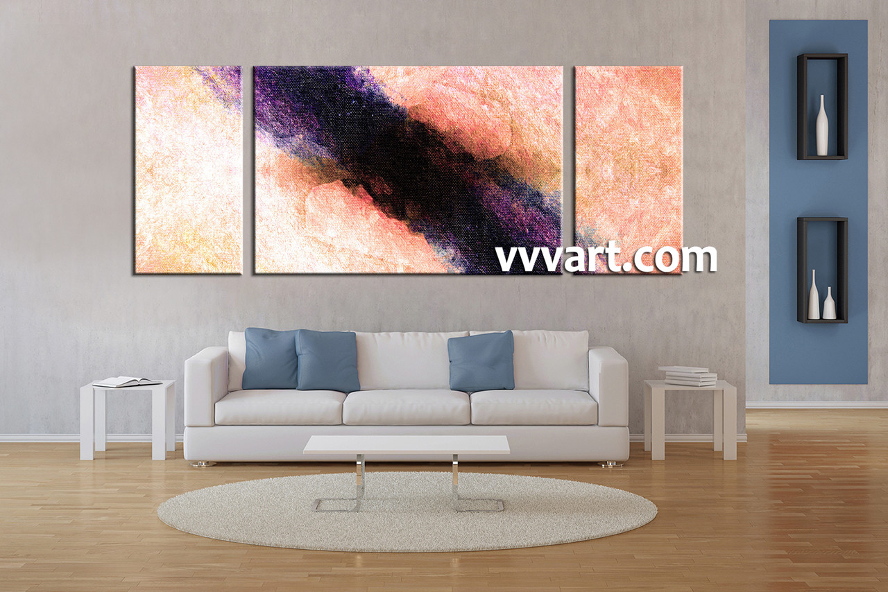 3 piece peach black abstract wall decor living room photo canvas 3 piece canvas wall art abstract canvas wall art amipublicfo Image collections