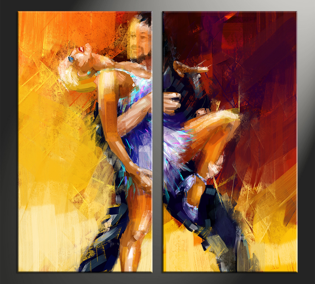 2 piece yellow canvas modern salsa multi panel art home decor 2 piece canvas arts salsa canvas arts modern huge canvas art