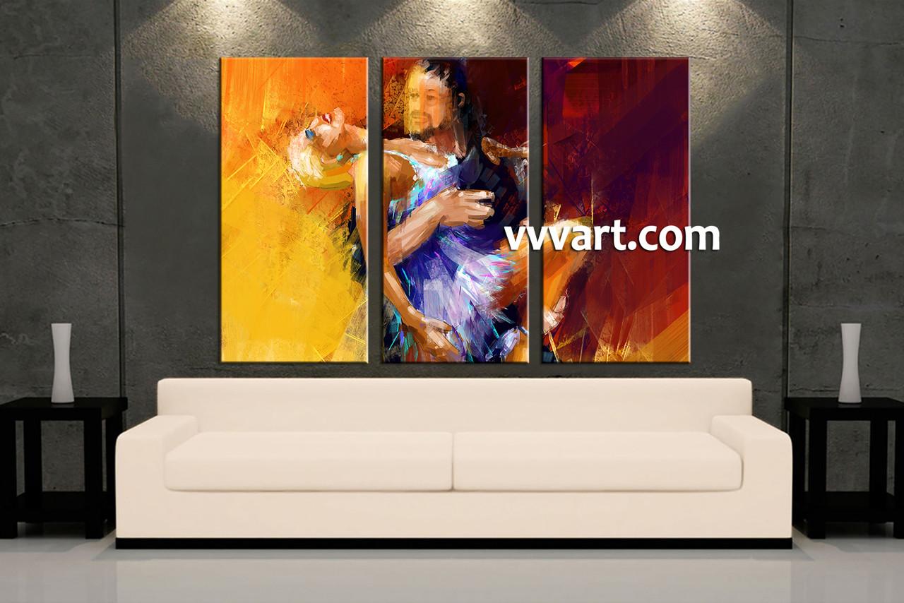 Living Room Art 3 Piece Canvas Wall Oil Decor Modern Artwork