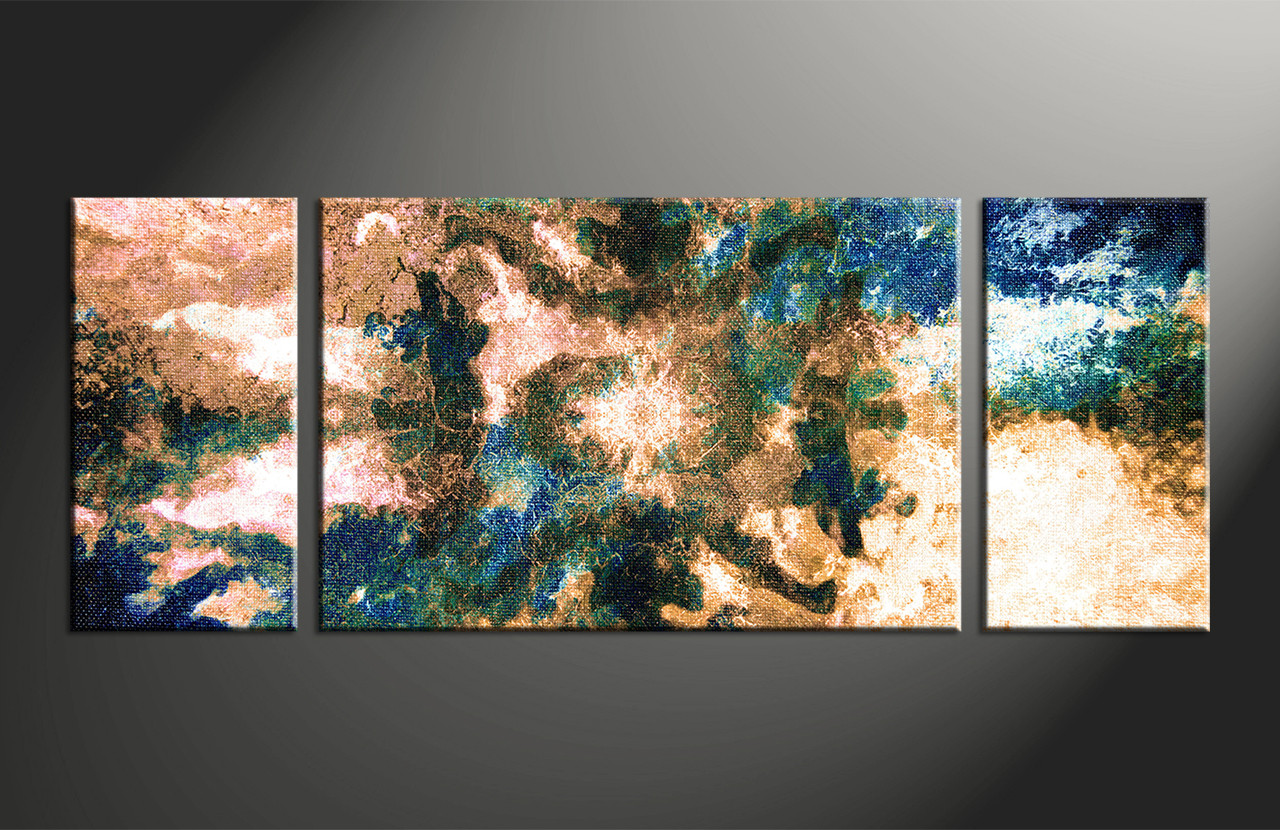 3 piece brown abstract modern oil paintings canvas photography for Buy canvas prints online