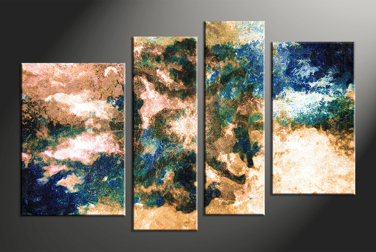 Abstract wall art painting - Home Decor 4 Piece Canvas Wall Art Oil Multi Panel Canvas Abstract Large