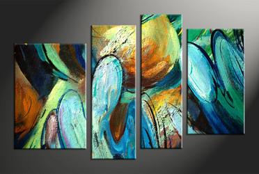 home decor, 4 piece wall art, abstract multi panel art, abstract large canvas, modern art