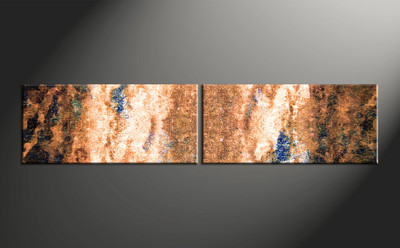 Home wall art, 2 piece multi panel canvas, oil paintings artwork, abstract  wall