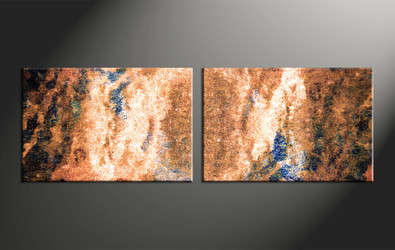 Home Decor, 2 piece canvas wall art, abstract large canvas , oil art,