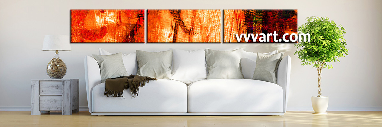 Large Paintings For Living Room Part - 43: Living Room Art, 3 Piece Canvas Wall Art, Abstract Decor, Abstract Artwork,