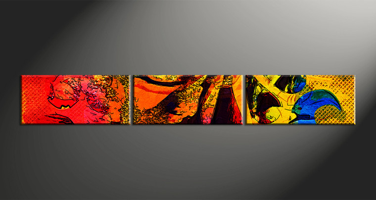 3pieces Modern Abstract Huge Wall Art Oil Painting On: 3 Piece Abstract Colorful Oil Paintings Wall Decor