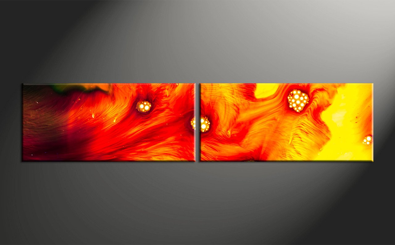 Home Wall Art 2 Piece Canvas Abstract Oil