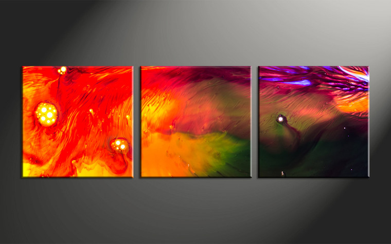 3pieces Modern Abstract Huge Wall Art Oil Painting On: 3 Piece Red Abstract Oil Paintings Canvas Photography