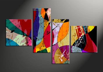 Home Wall Decor, 4 piece canvas wall art, abstract huge pictures, oil paintings photo canvas, abstract pictures