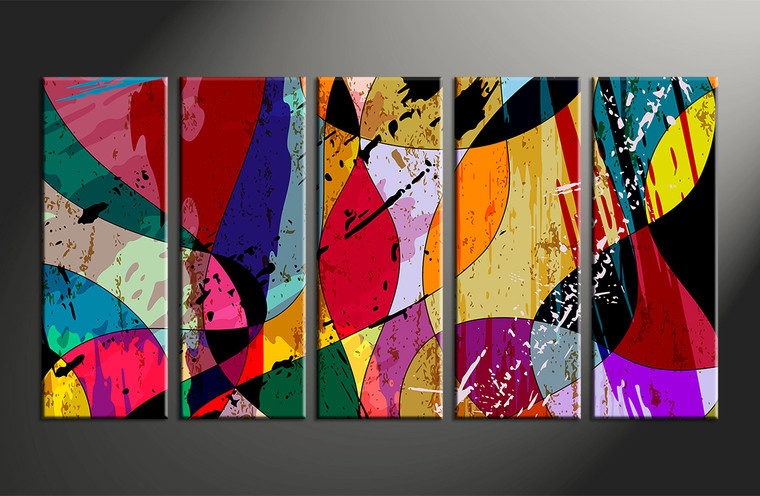 5 piece colorful home decor abstract multi panel canvas for 5 piece mural