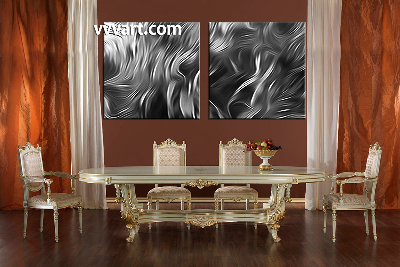 2 Piece Canvas Wall Art 2 piece grey canvas abstract wall art