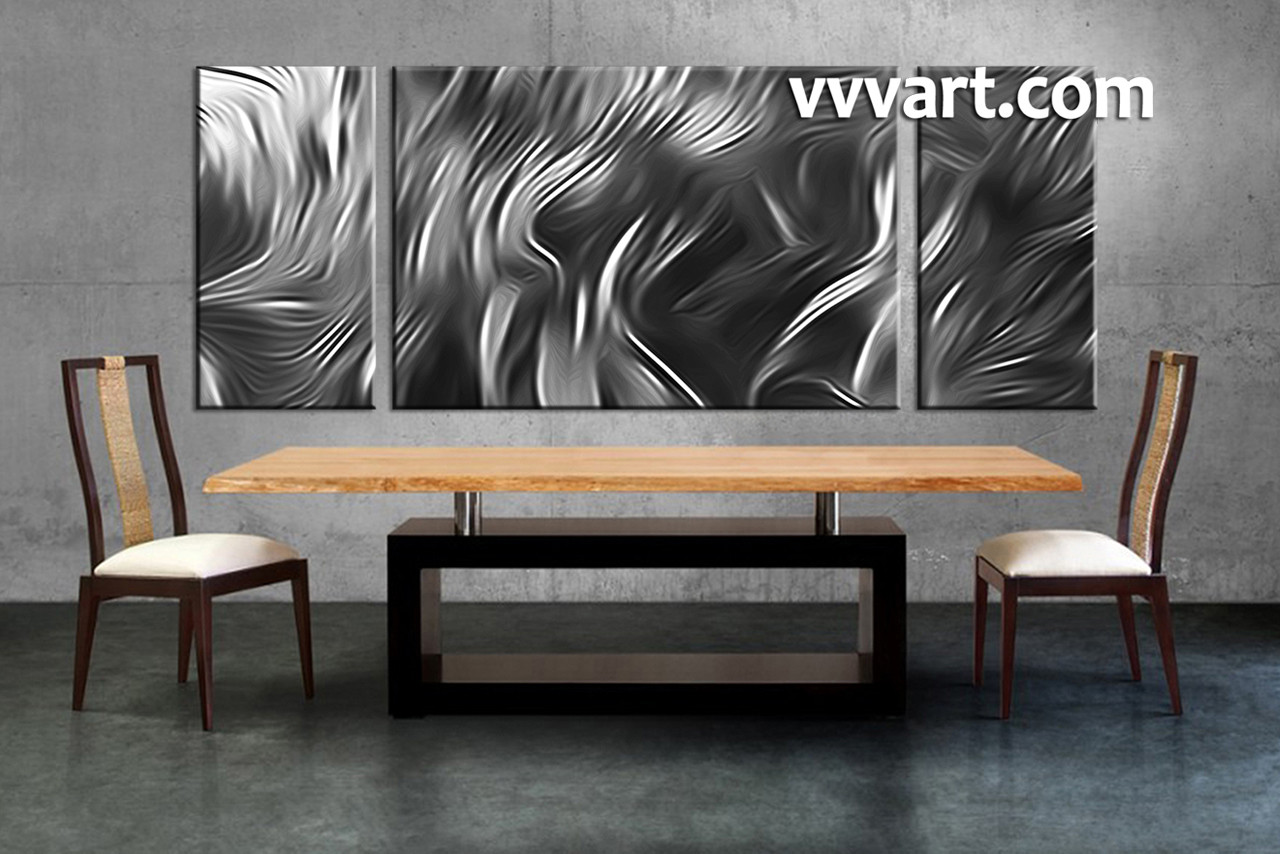 Dining Room Group Canvas, 3 Piece Canvas Wall Art, Black And White Photo  Canvas