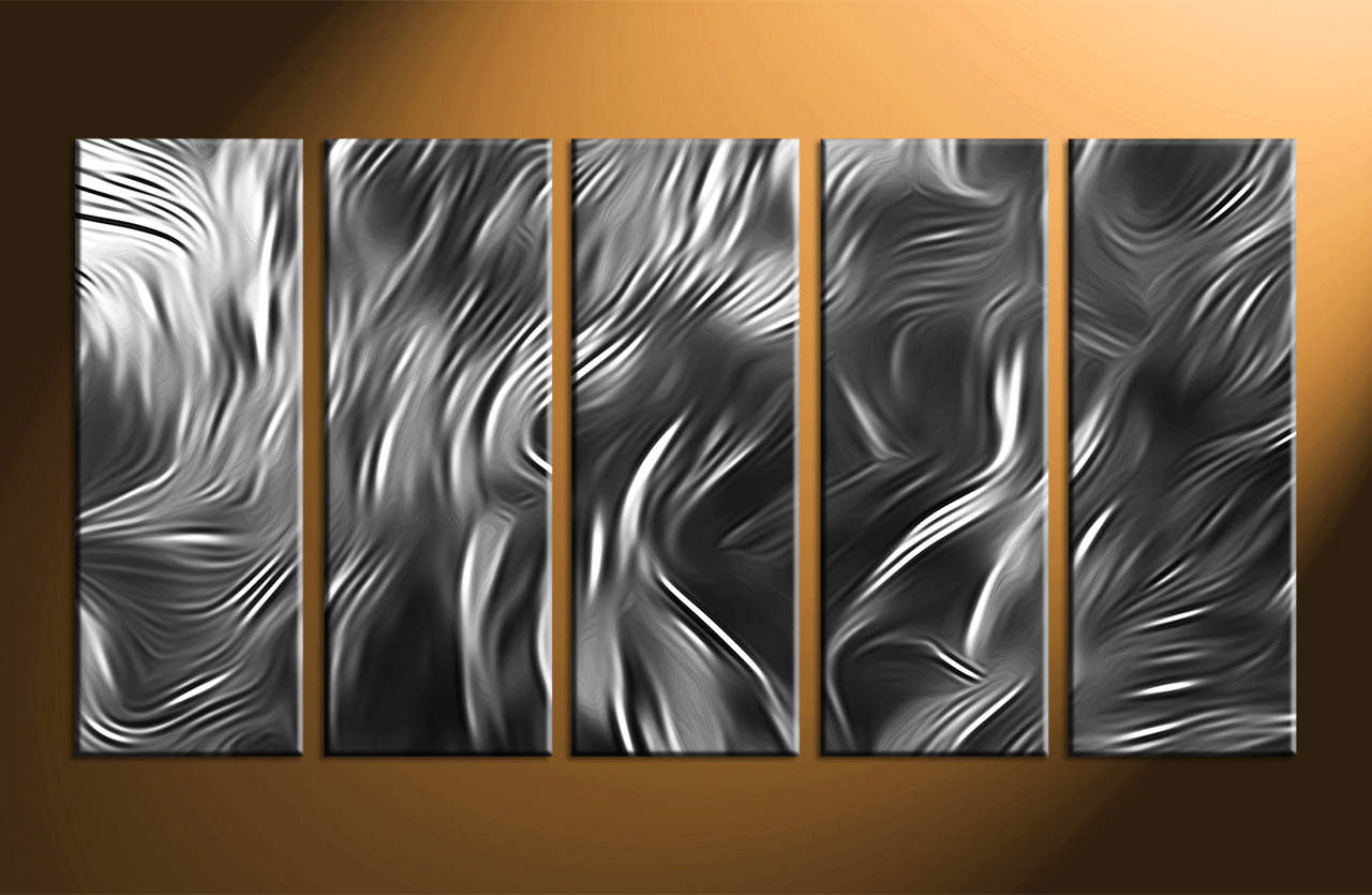 Abstract Wall Art 5 piece abstract grey multi panel canvas