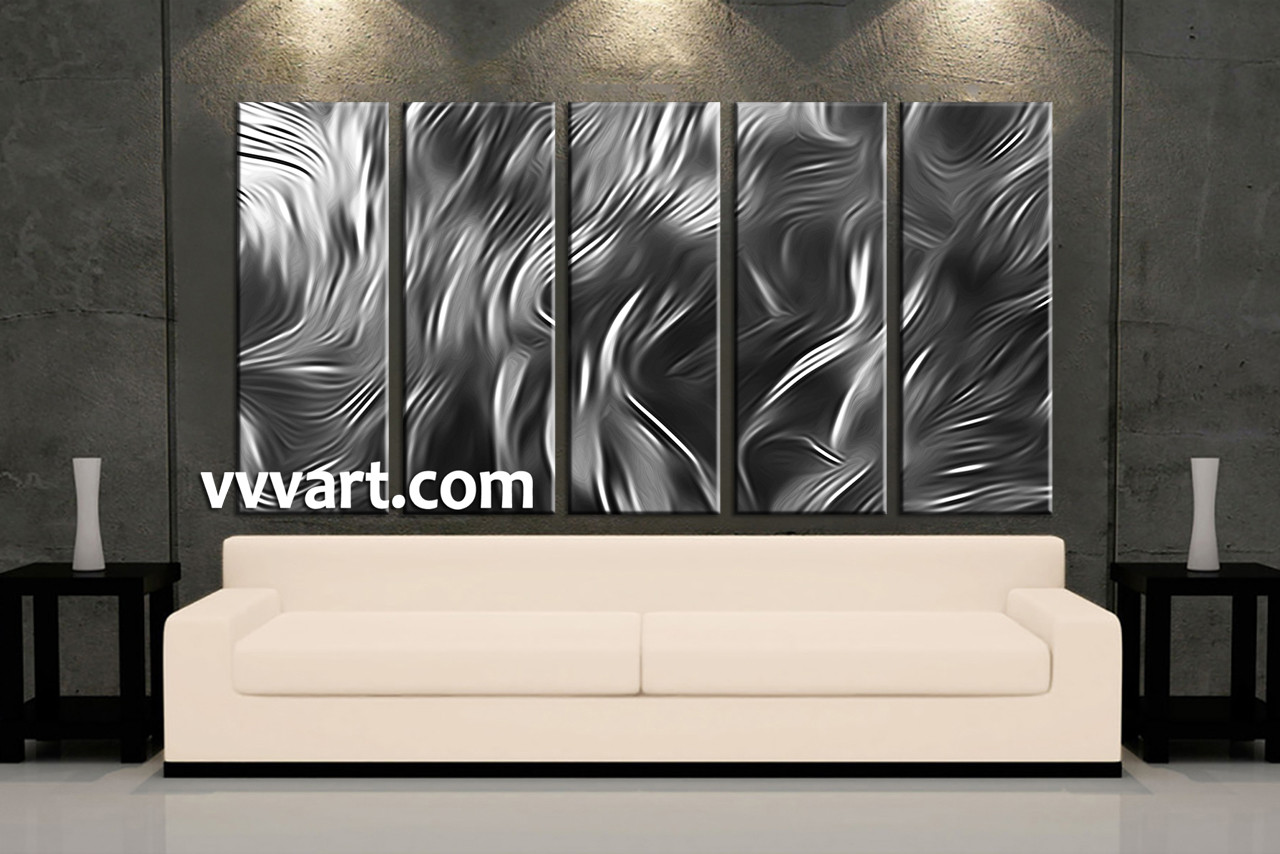 Living Room Canvas Wall Art, 5 Piece Canvas Wall Art, Black And White Large