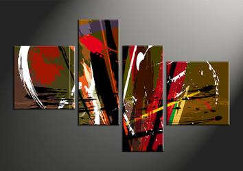 Home Decor, 4 piece canvas wall art, abstract group canvas, oil paintings canvas wall art, abstract artwork
