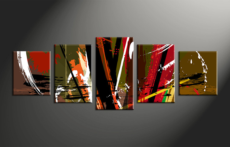 5 piece canvas home decor colorful abstract multi panel art for 5 piece mural