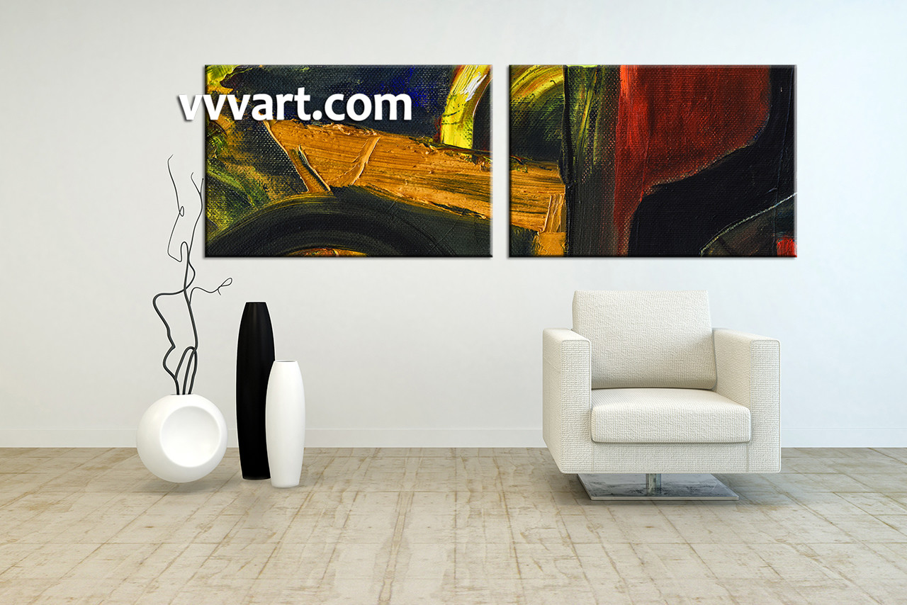 2 piece colorful home decor abstract large pictures for Order home decor online