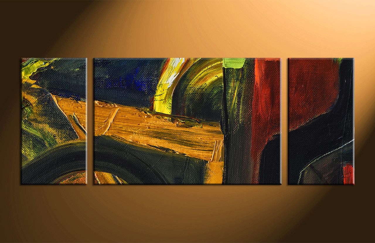 3pieces Modern Abstract Huge Wall Art Oil Painting On: 3 Piece Colorful Wall Decor Abstract Oil Paintings Artwork
