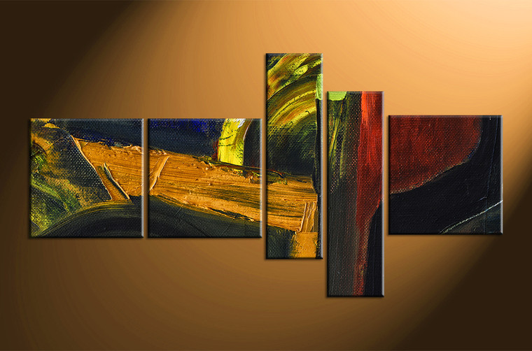 5 piece colorful home decor abstract oil painting wall art for 5 piece mural