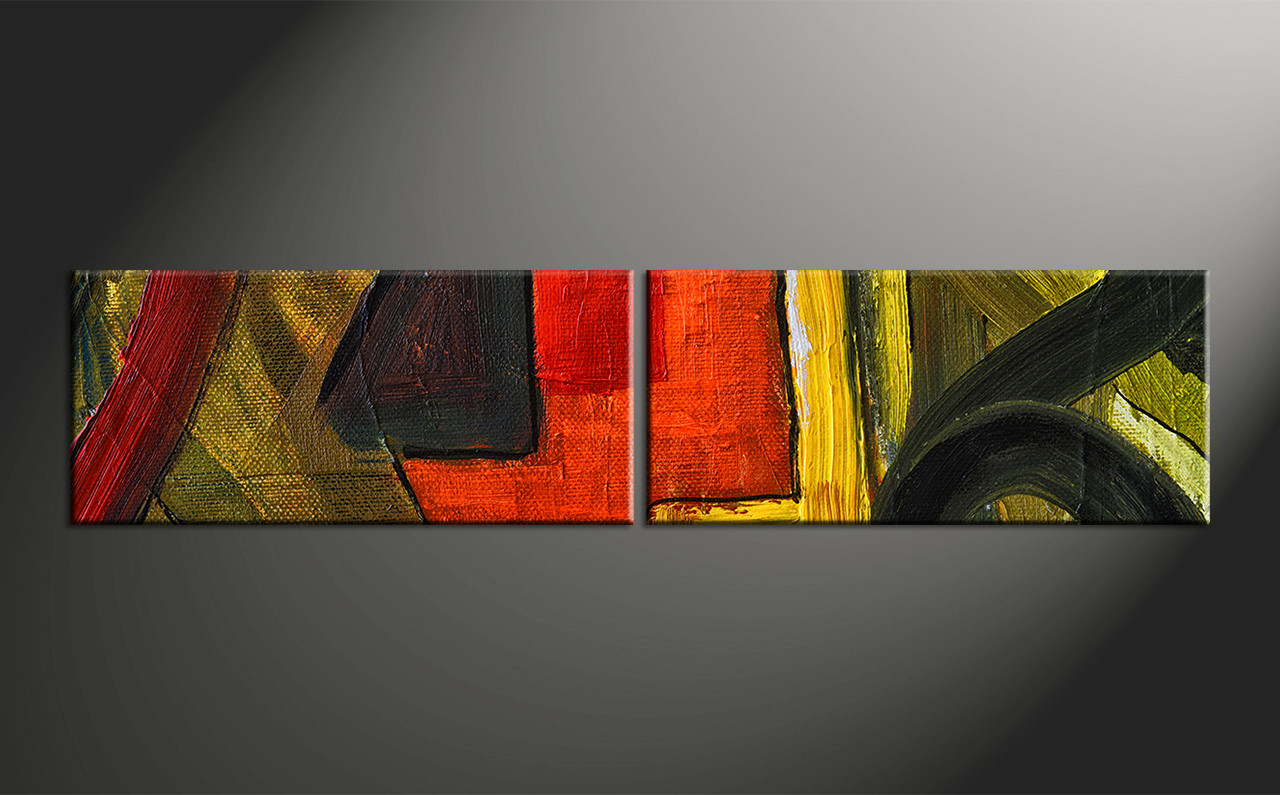 Home Decor, 2 Piece Photo Canvas, Abstract Huge Canvas Art, Oil Paintings  Photo
