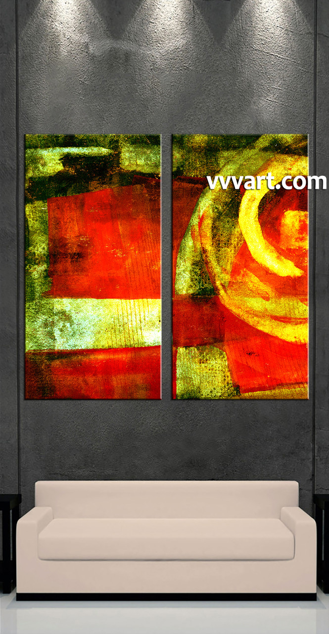 Abstract Wall Art Canvas 2 piece colorful home decor abstract photo canvas