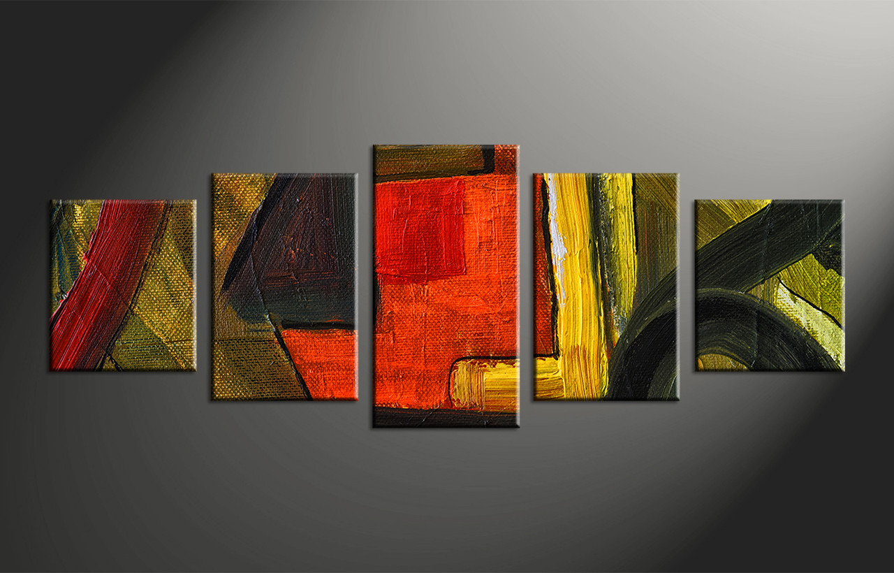Abstract Wall Art Canvas 5 piece canvas abstract colorful oil painting multi panel art