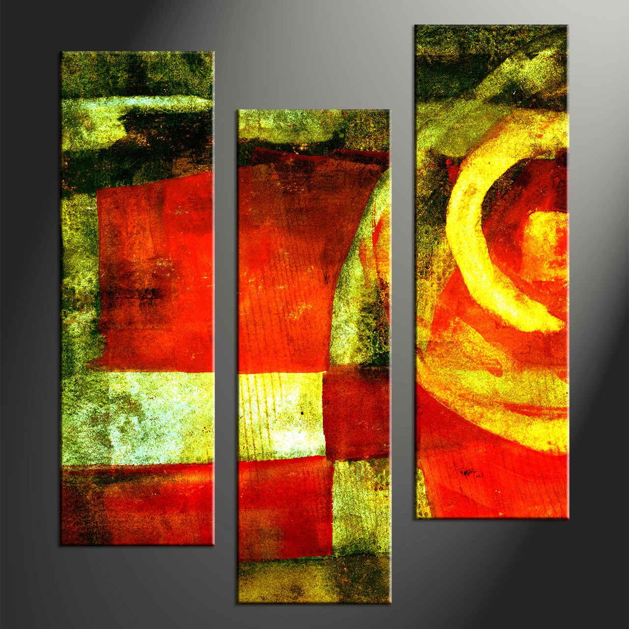 3 piece abstract colorful home decor photo canvas for Art painting for home decoration