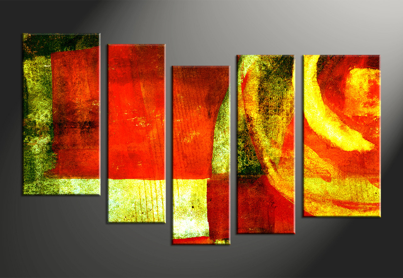 5 piece colorful canvas abstract home decor wall art for 5 piece mural
