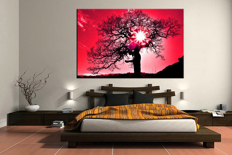 1 piece red scenery large canvas for Buy large canvas prints