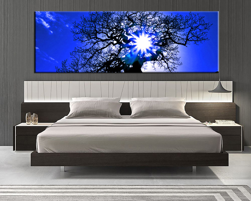 Blue Canvas Wall Art 1 piece blue canvas scenery wall art