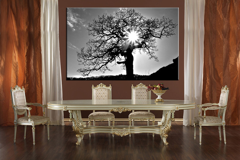 Piece Black And White Scenery Huge Canvas Art