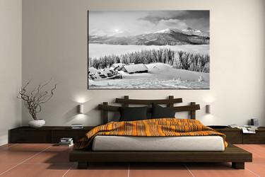 1 piece canvas wall art, bedroom art print, black and white canvas print, landscape group canvas, landscape art