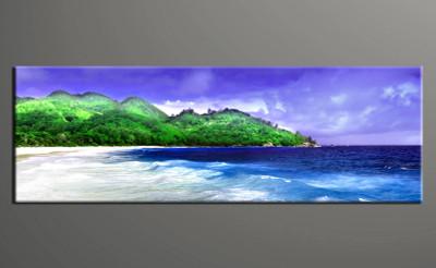 1 piece wall art, home decor ocean artwork, forest pictures, ocean canvas print, ocean blue sky huge pictures