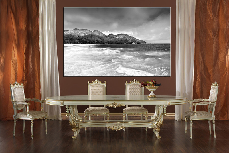1 piece grey ocean mountain huge canvas art