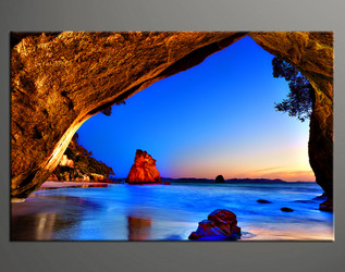1 piece canvas print, home decor artwork, landscape photo canvas, ocean canvas photography, blue ocean art