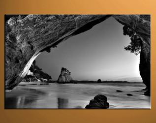 home decor,1 piece canvas art prints, black and white ocean photo canvas, mountain canvas print, ocean large canvas