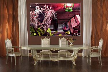 Dining Room Wall Decor, 1 Piece Wall Art, Wine Multi Panel Art, Kitchen