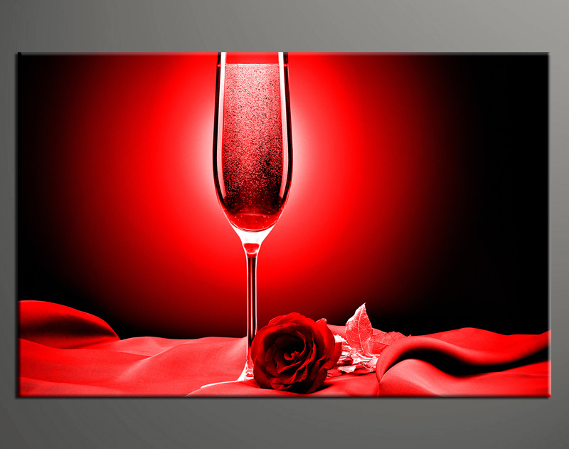 Wine Wall Art 1 piece red huge canvas art rose wine decor